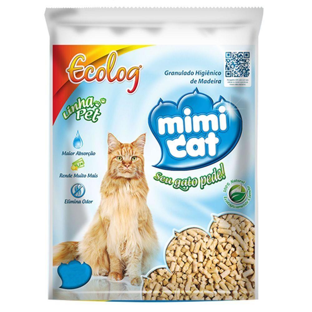 Areia Sanitária Granulado de Madeira Mimi Cat