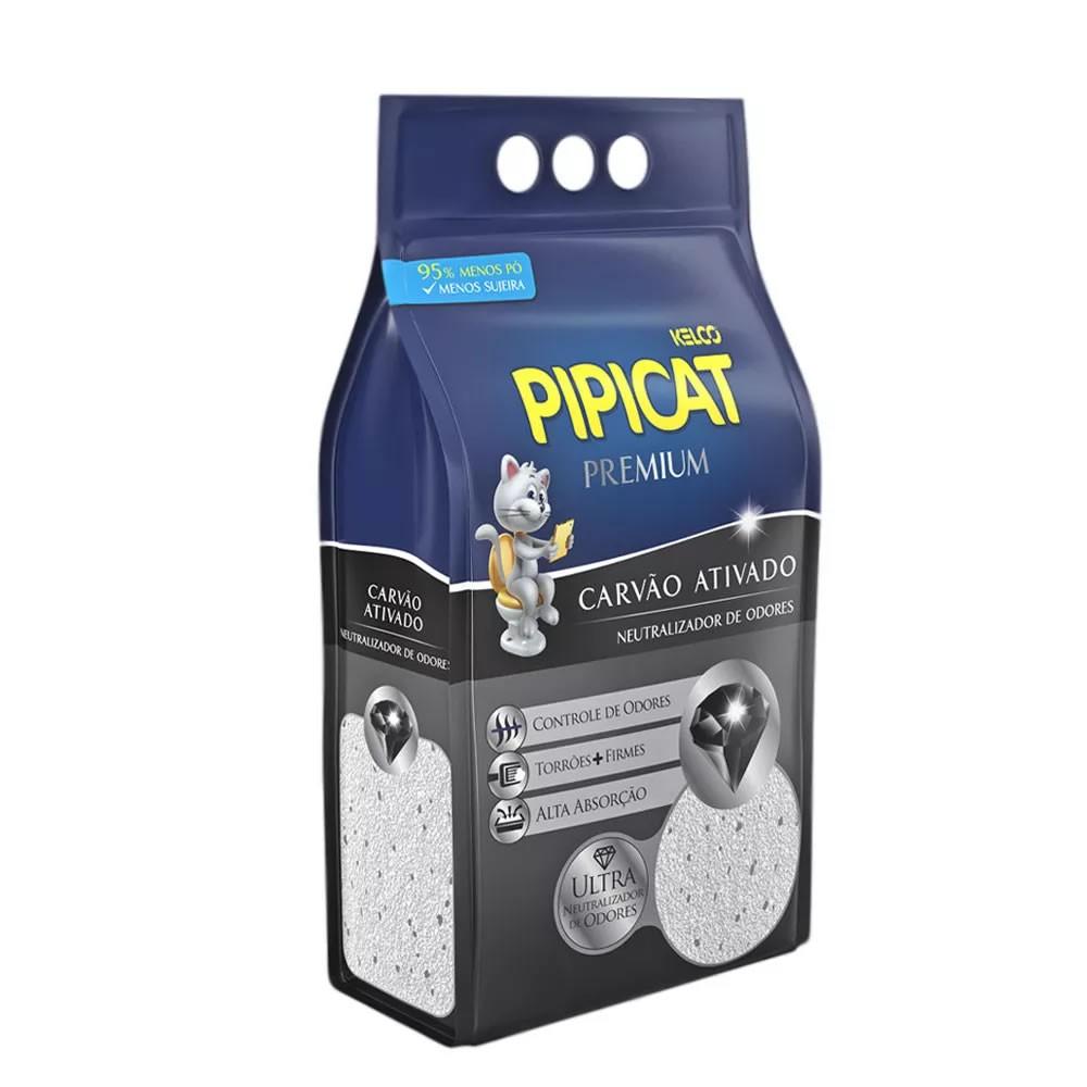 Areia Sanitária Pipicat Premium Carvão Ativado