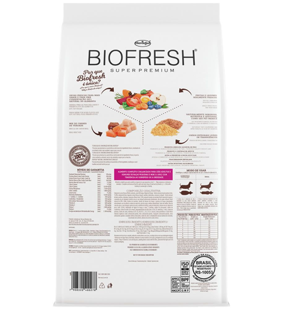 Biofresh Raças Pequenas e Mini Light Adulto