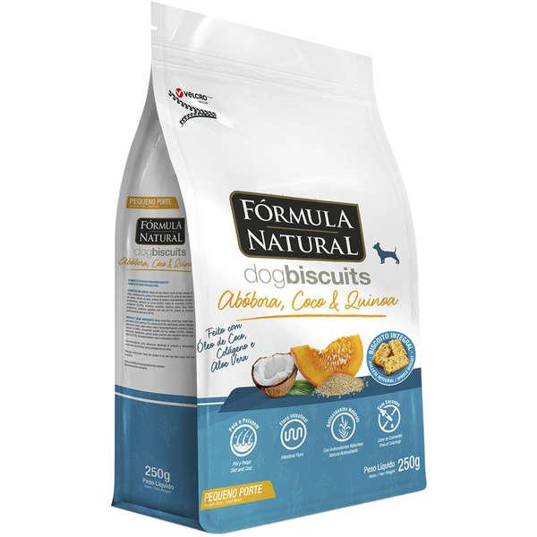 Biscoito Formula Natural Dog Biscuits Abóbora, Coco e Quinoa Cães Adultos Raças Minis e Pequenas