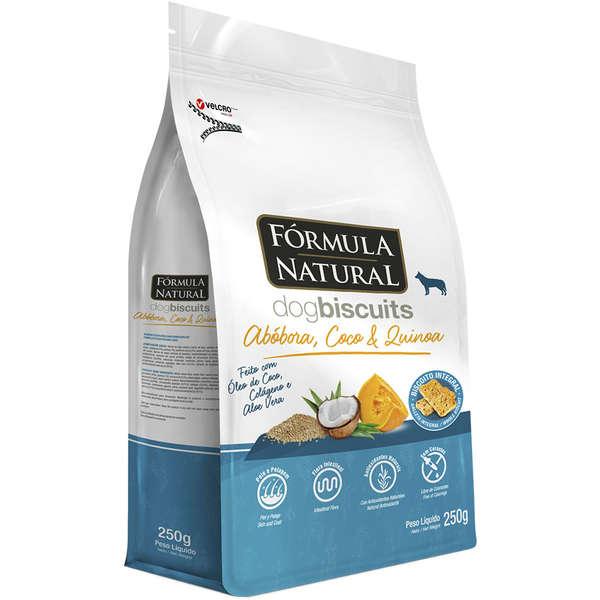 Biscoito Fórmula Natural Dog Biscuits Abóbora, Coco e Quinoa para Cães Adultos Raças Médias e Grandes