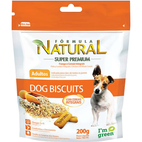 Biscoito Formula Natural Dog Biscuits Cães Adultos - 200g
