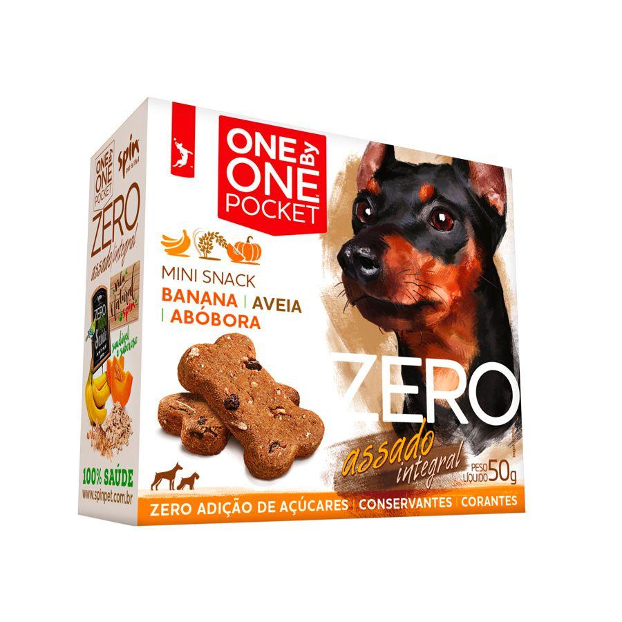 Biscoito One by One Pocket Zero Banana com Aveia e Abóbora