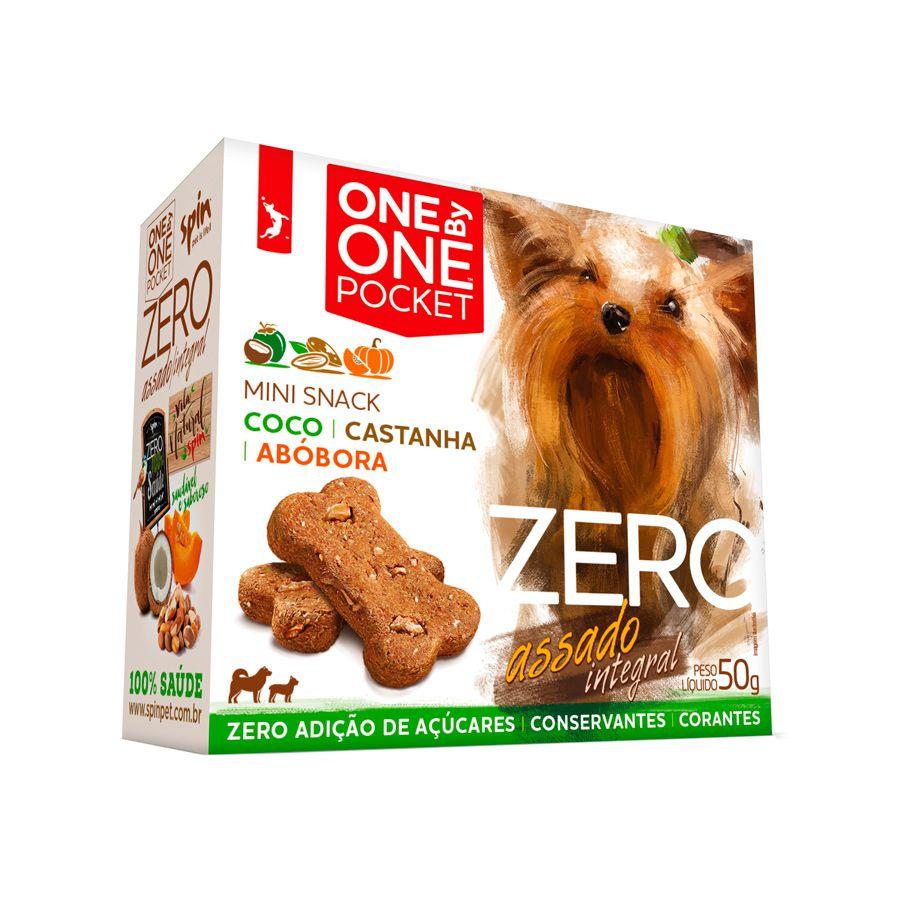 Biscoito One by One Pocket Zero Coco com Castanha e Abóbora