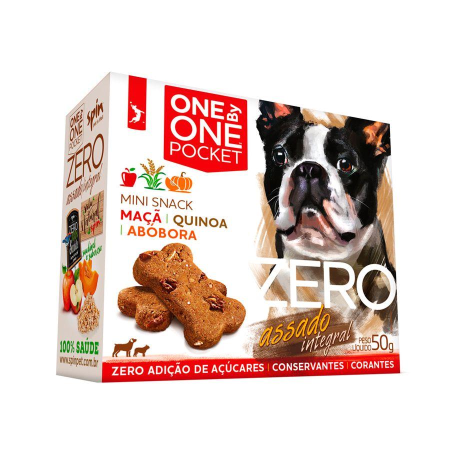Biscoito One by One Pocket Zero Maçã com Quinoa e Abóbora