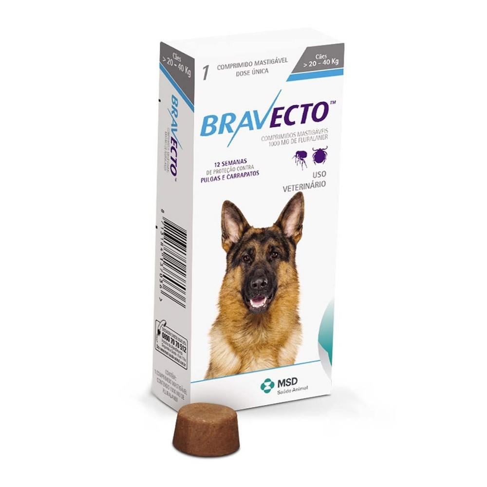 Bravecto 1000mg (cães de 20 a 40kg)