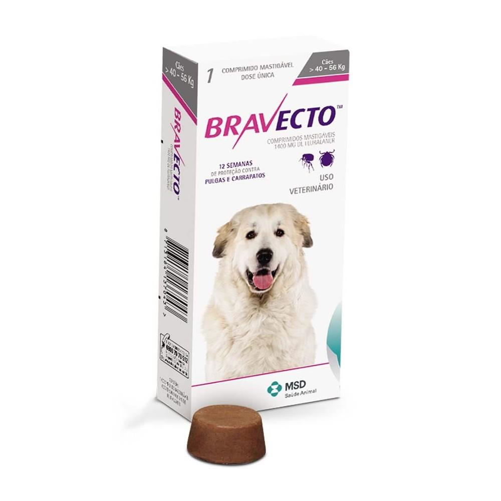 Bravecto 1400mg (cães de 40 a 56kg)