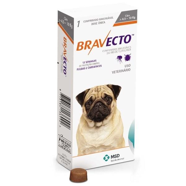 Bravecto 250mg (cães de 4,5 a 10kg)