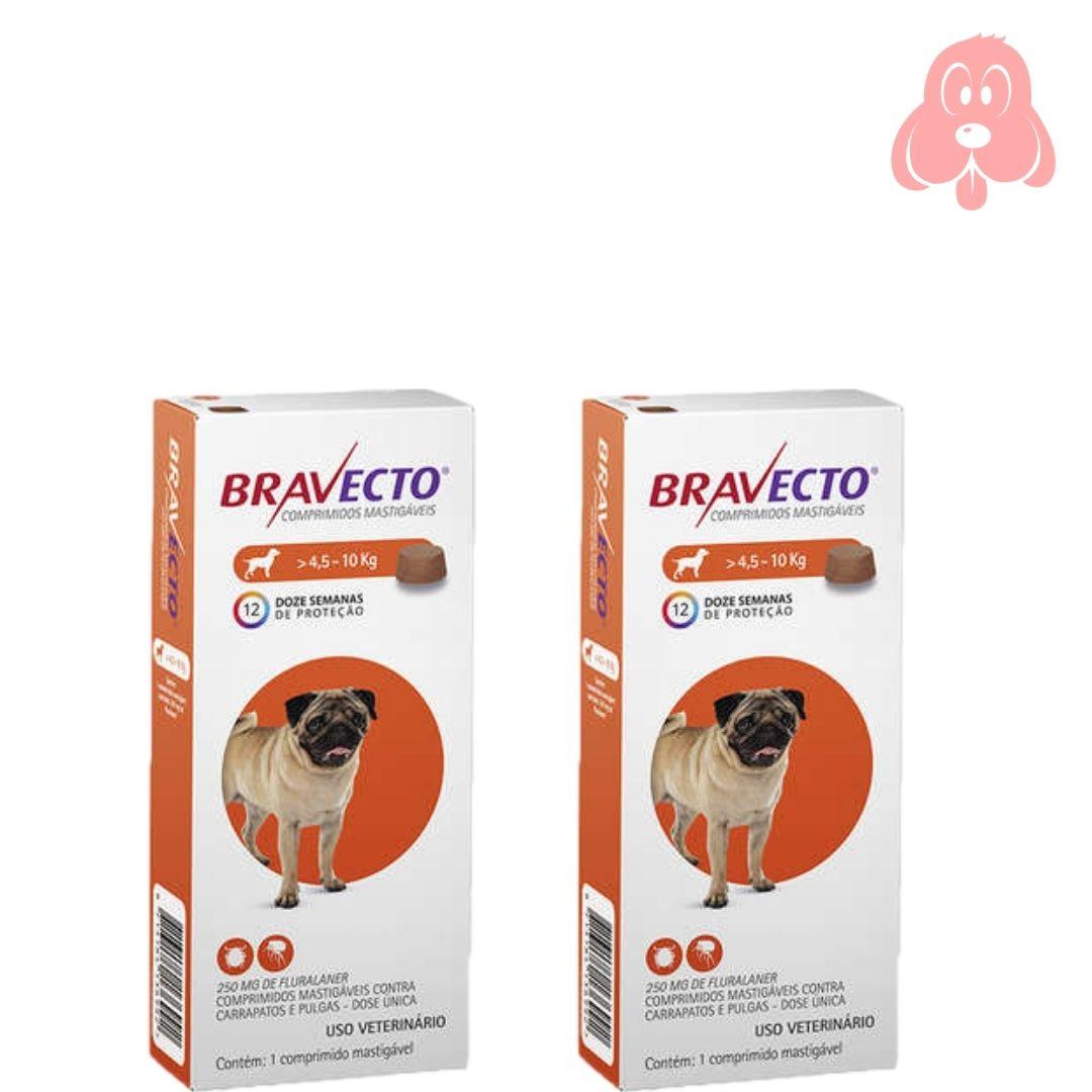 Bravecto 250mg (cães de 4,5 a 10kg) 2 Unidades