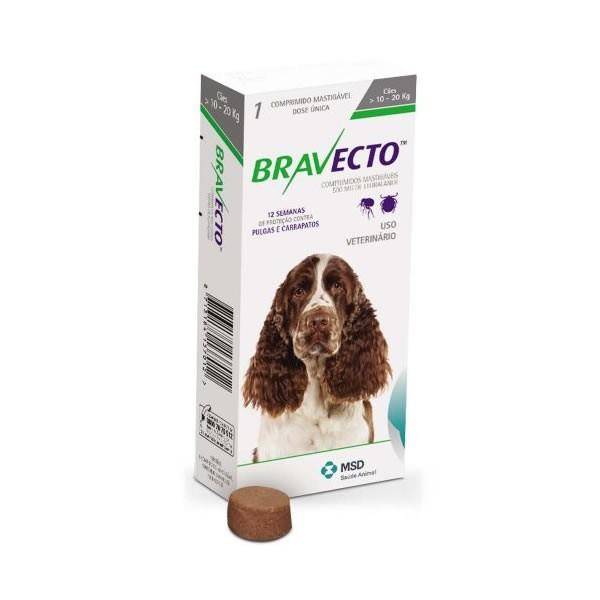 Bravecto 500mg (cães de 10 a 20kg)