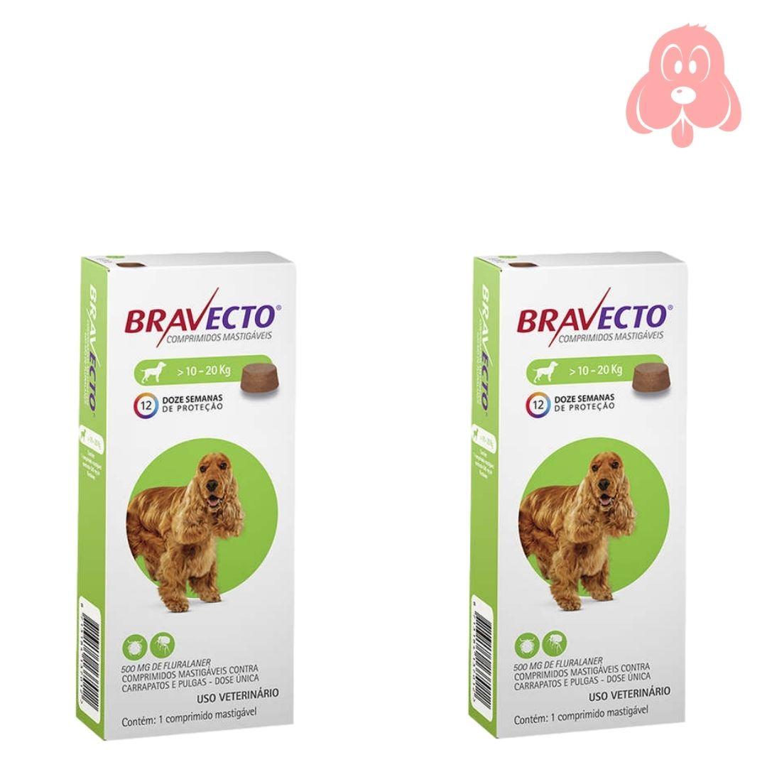 Bravecto 500mg (cães de 10 a 20kg) 2 Unidades
