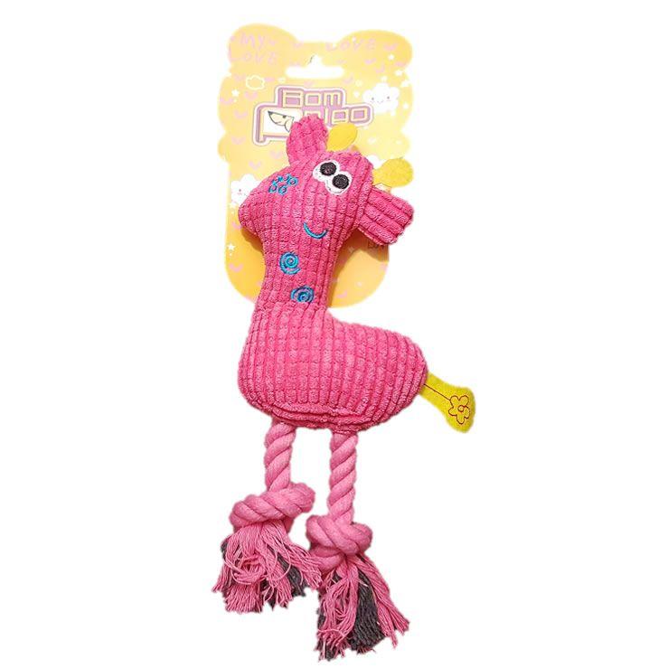 Brinquedo Girafa Pelúcia com Corda - Bom Amigo