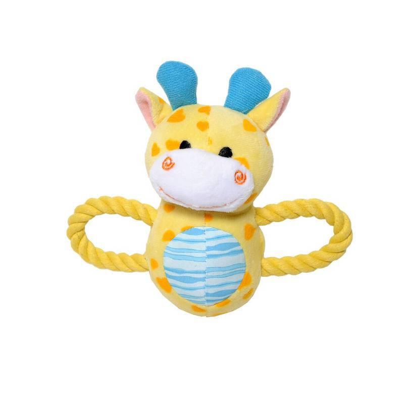 Brinquedo Baby Girafa Pelúcia e Corda - Petwi