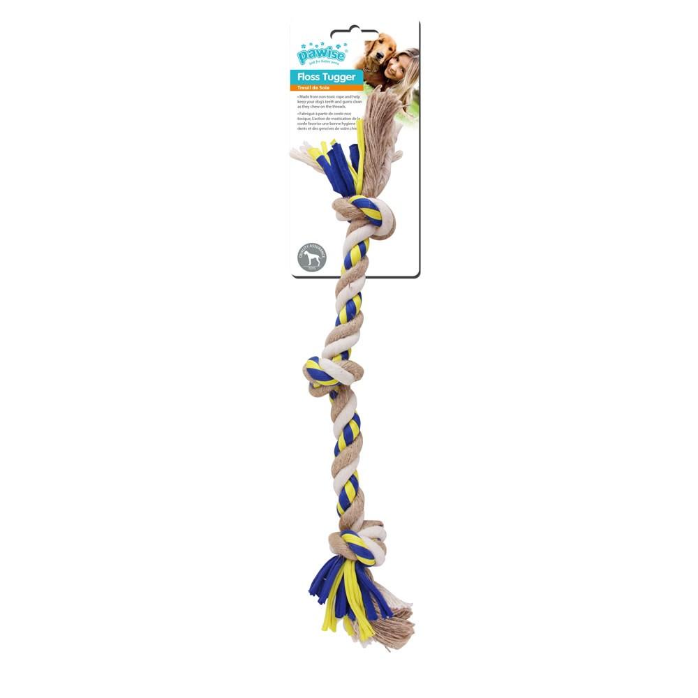 Brinquedo Mordedor Floss Tugger 3 Knots Bone - Pawise