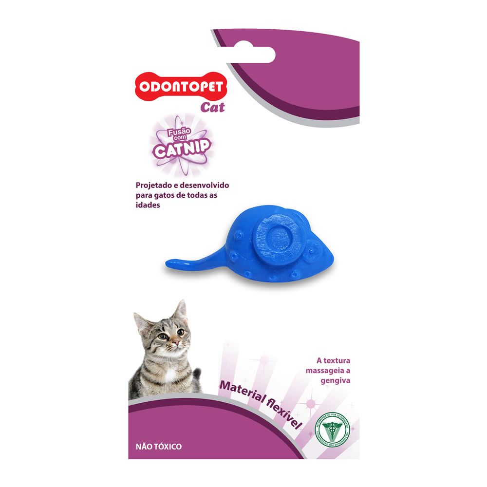 Brinquedo Odonto Cat Mouse - Odontopet