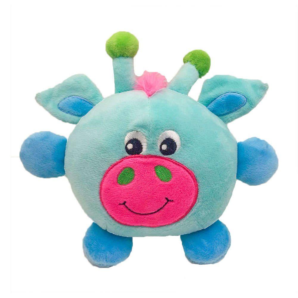 Brinquedo Pelúcia Girafa Azul - Akio