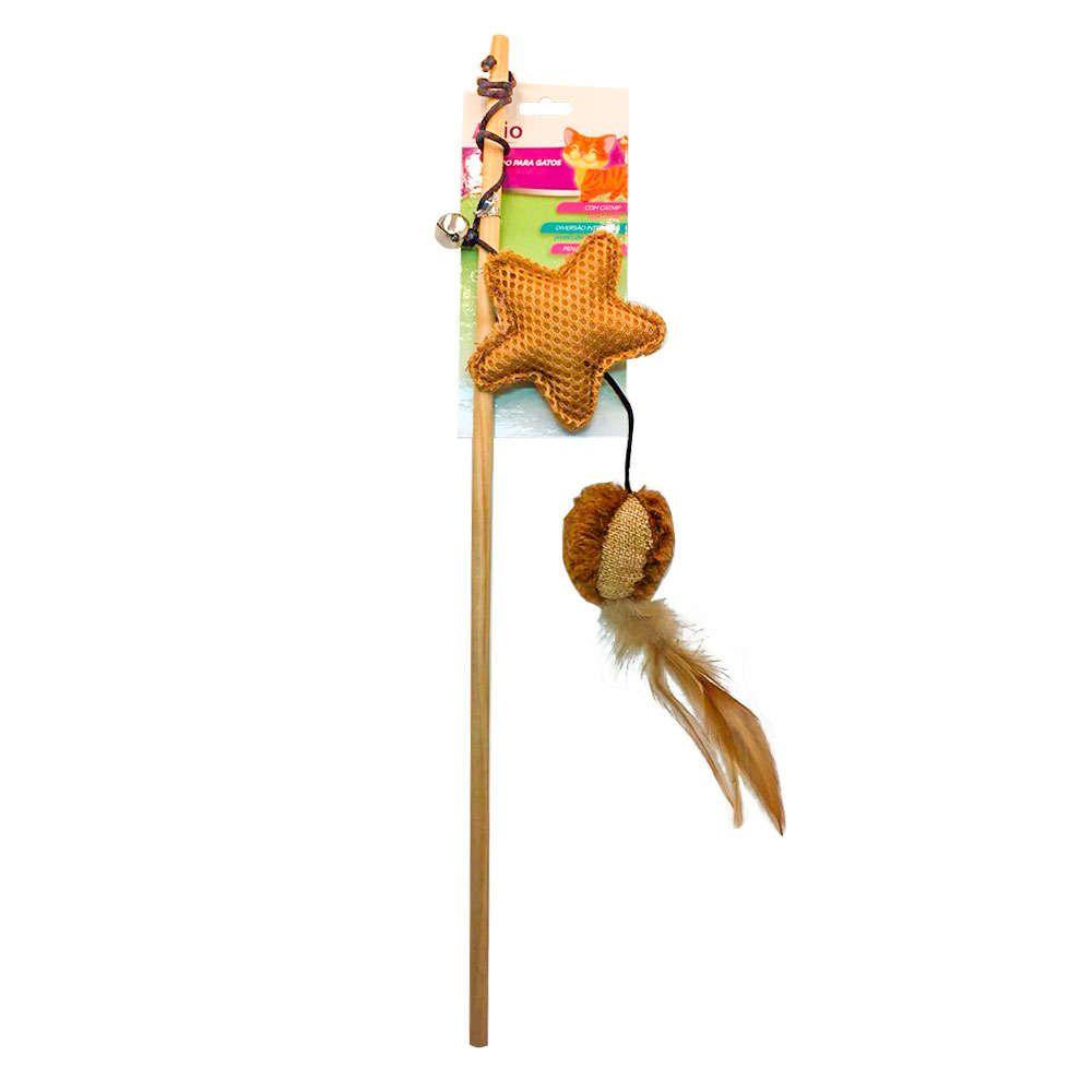Brinquedo Vara Estrela com Penas - Akio