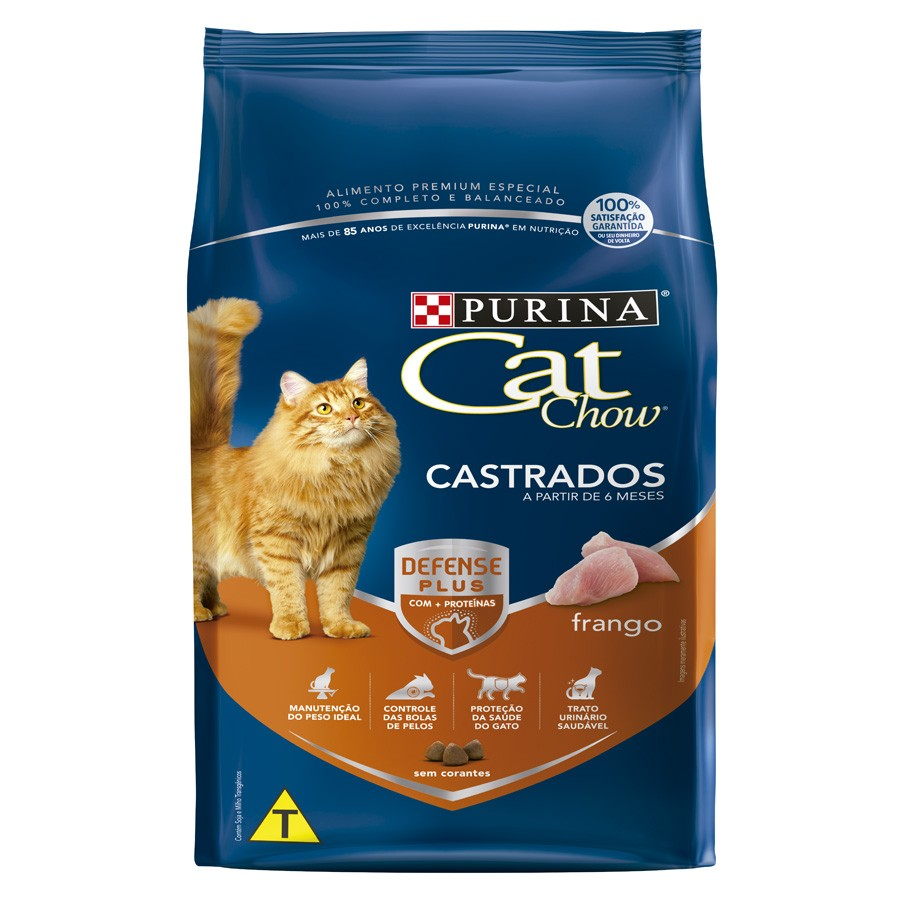 Cat Chow Defense Plus Castrados Frango