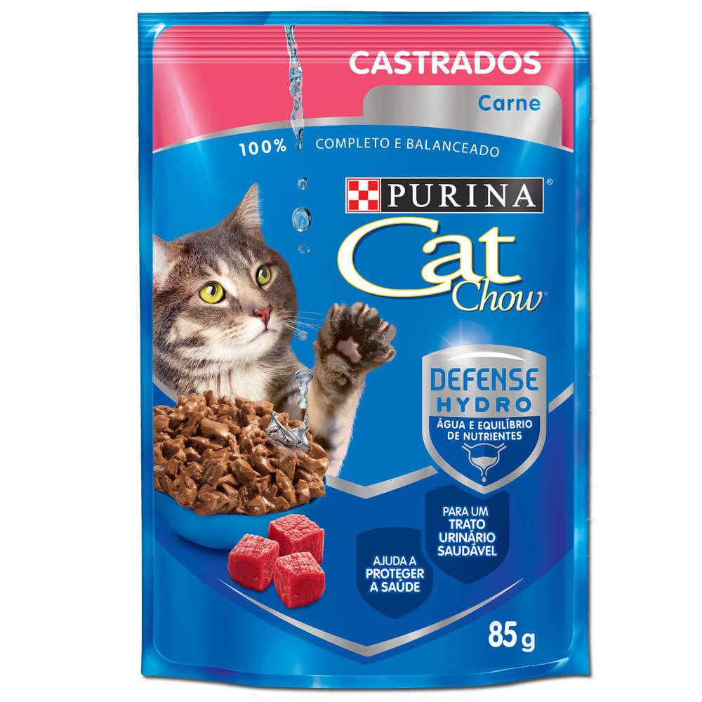 Cat Chow Sachê Castrado Adulto Carne
