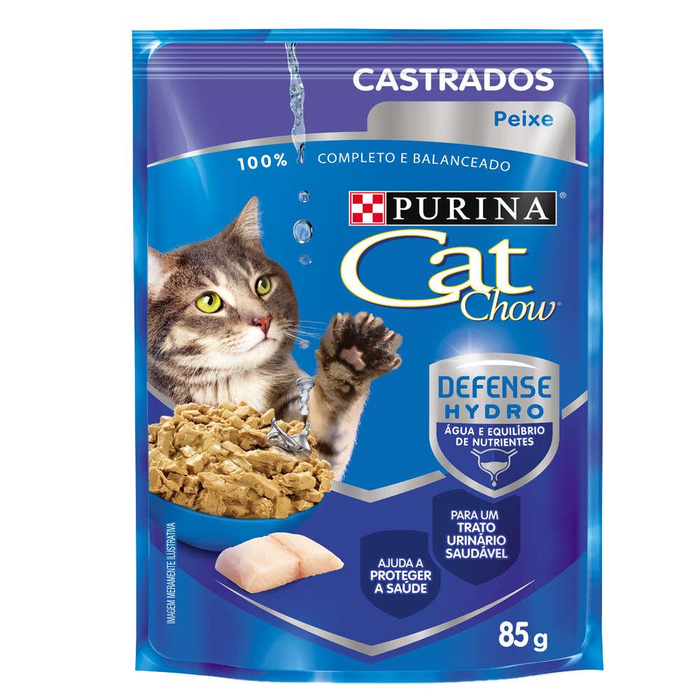 Cat Chow Sachê Castrado Adulto Peixe