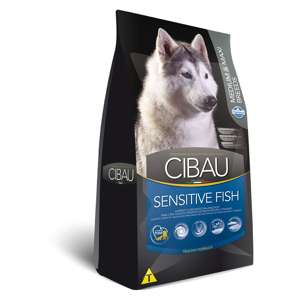 Cibau Medium e Maxi Sensitive Fish Adult