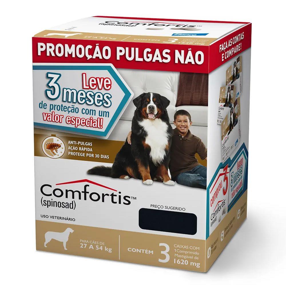 Combo Comfortis (Cães 27kg a 54kg) - 3x1620mg