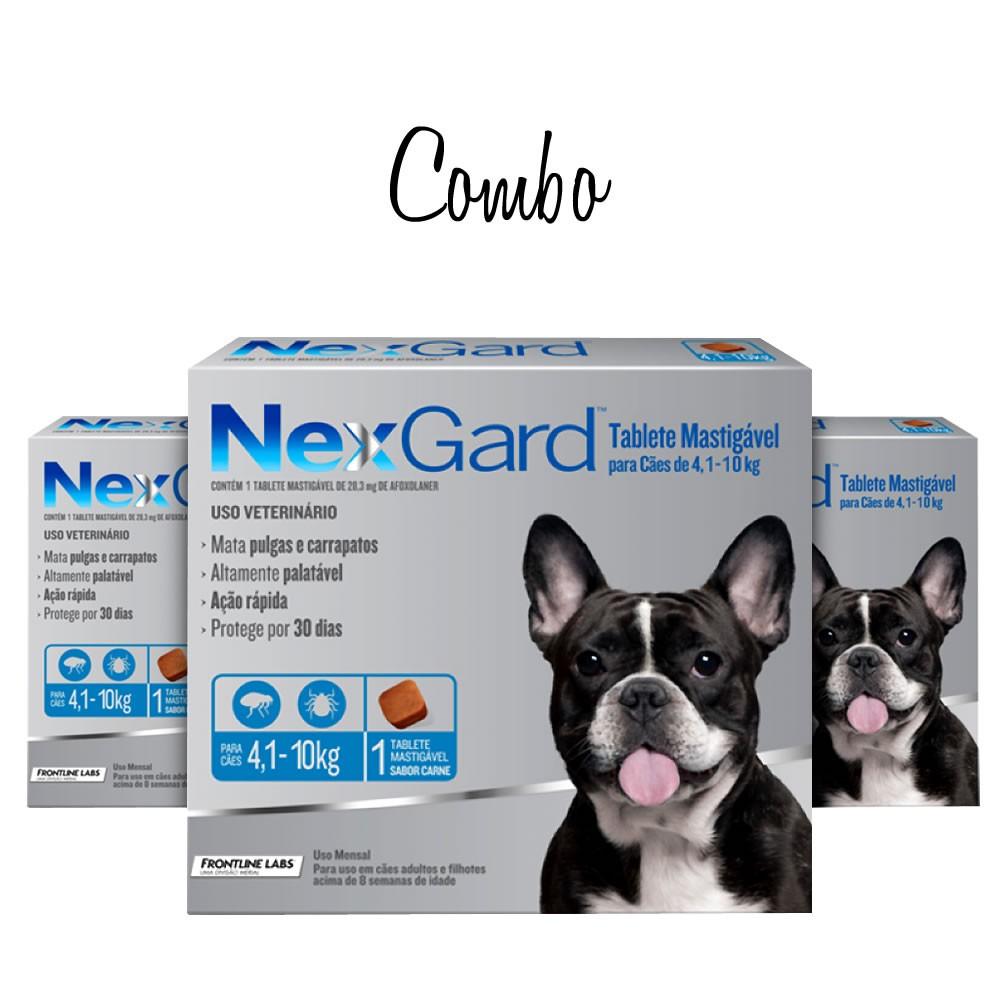 Combo Nexgard 28,3mg (4,1 a 10kg) - 3 unidades