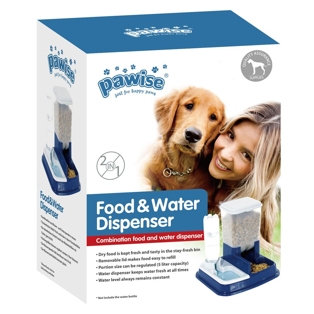 Comedouro e Bebedouro Food e Water Dispenser 2 em 1 - Pawise