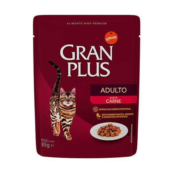 Gran Plus Sachê Gatos Adulto Carne 85g