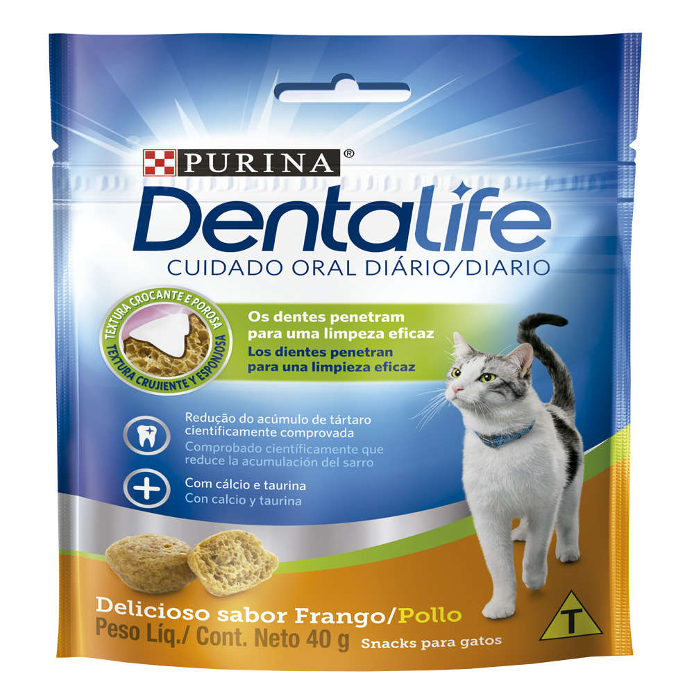 Dentallife Gatos Snacks Frango - 40g