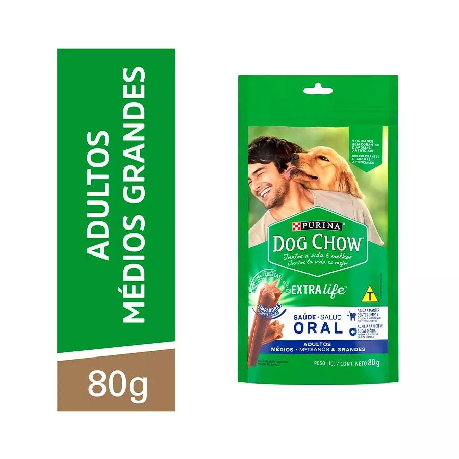 Dog Chow Extra Life Saúde Oral para Cães de Médio e Grande Porte 80g