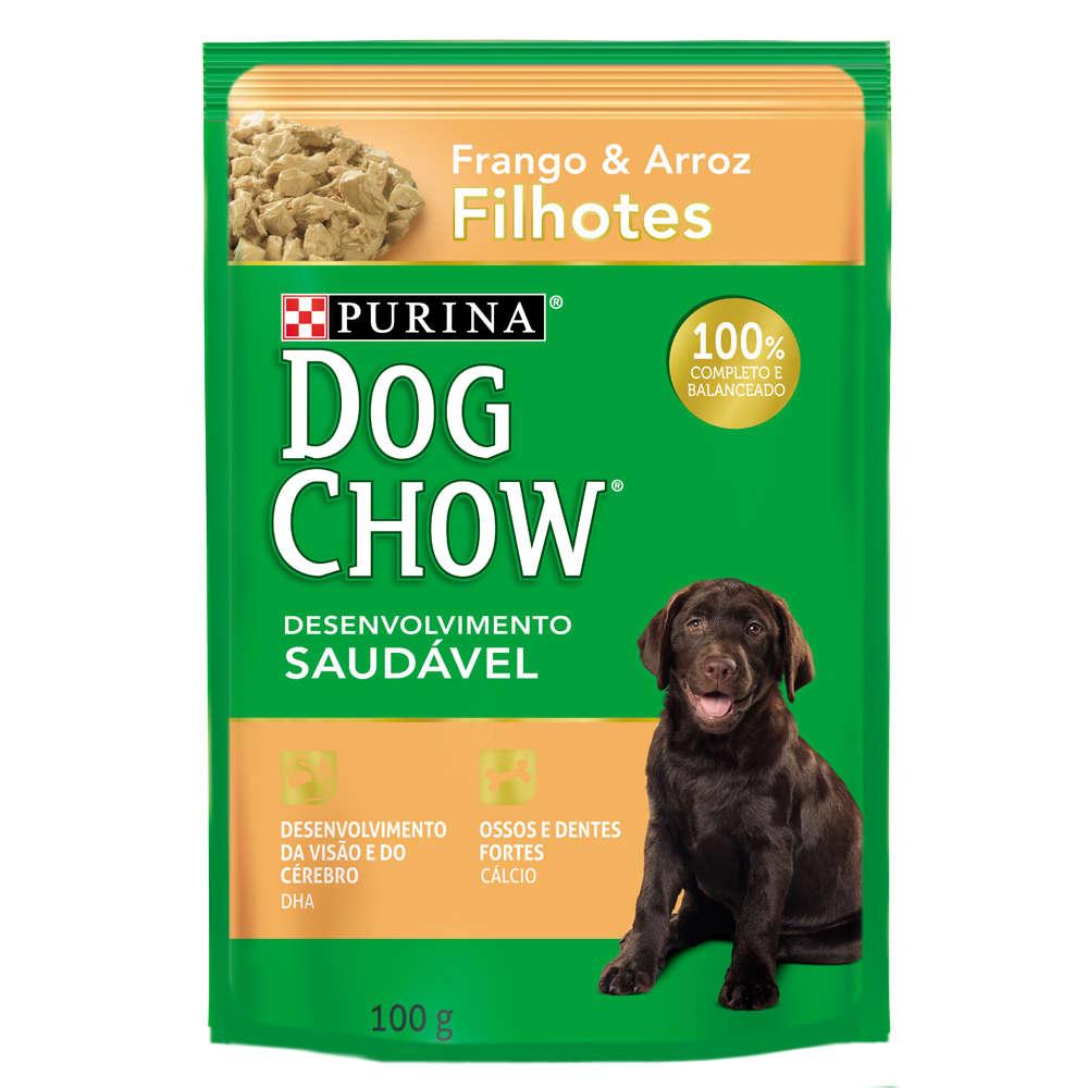 Dog Chow Sachê Filhote Frango e Arroz