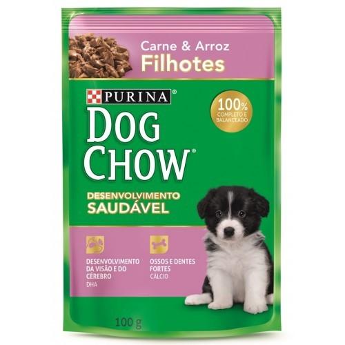 Dog Chow Sachê Filhote Carne e Arroz