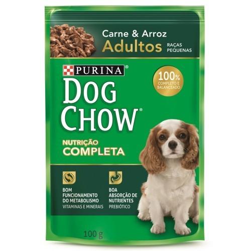 Dog Chow Sachê Raças Pequenas Adulto Carne e Arroz