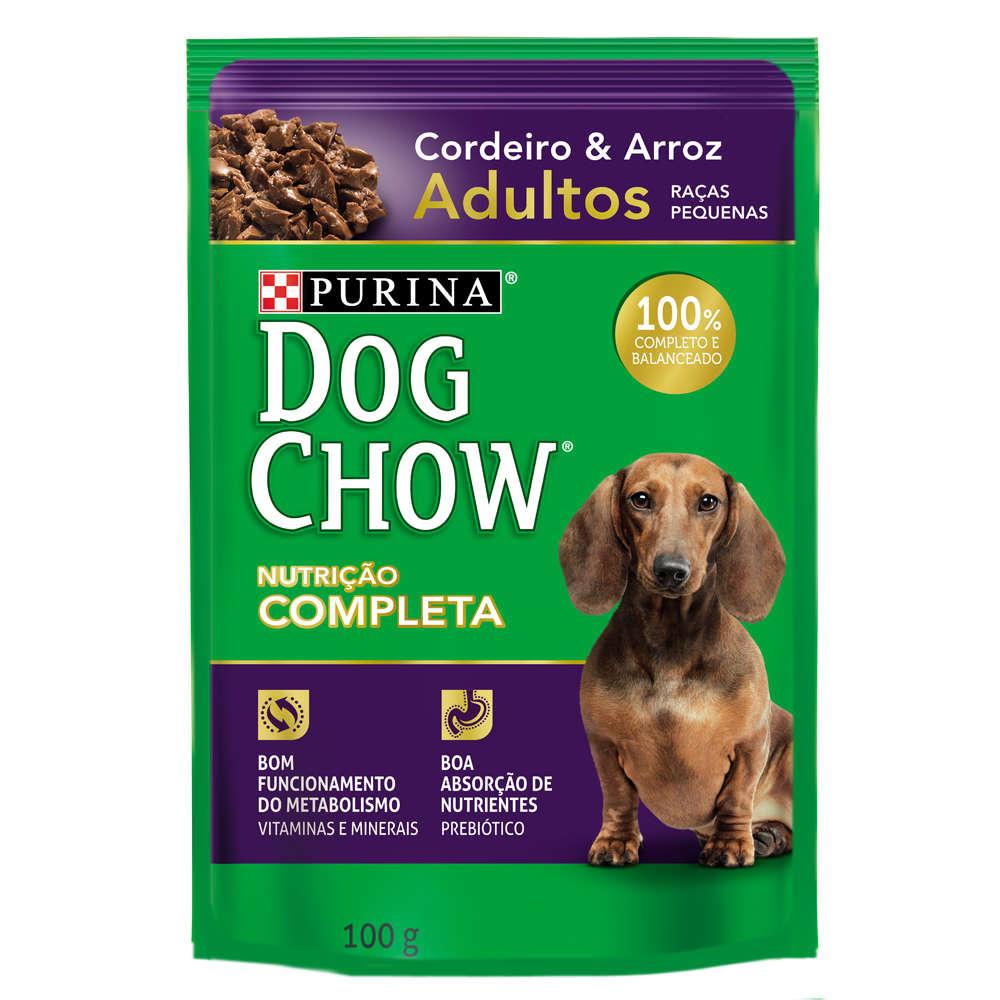 Dog Chow Sachê Raças Pequenas Adulto Cordeiro e Arroz