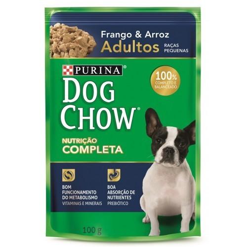 Dog Chow Sache Raças Pequenas Adulto Frango e Arroz
