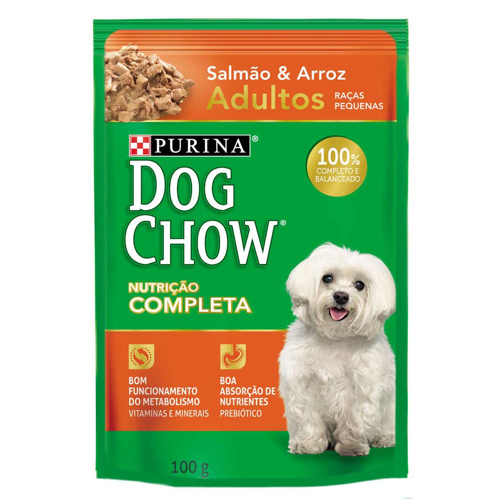 Dog Chow Sachê Raças Pequenas Adulto Salmão e Arroz
