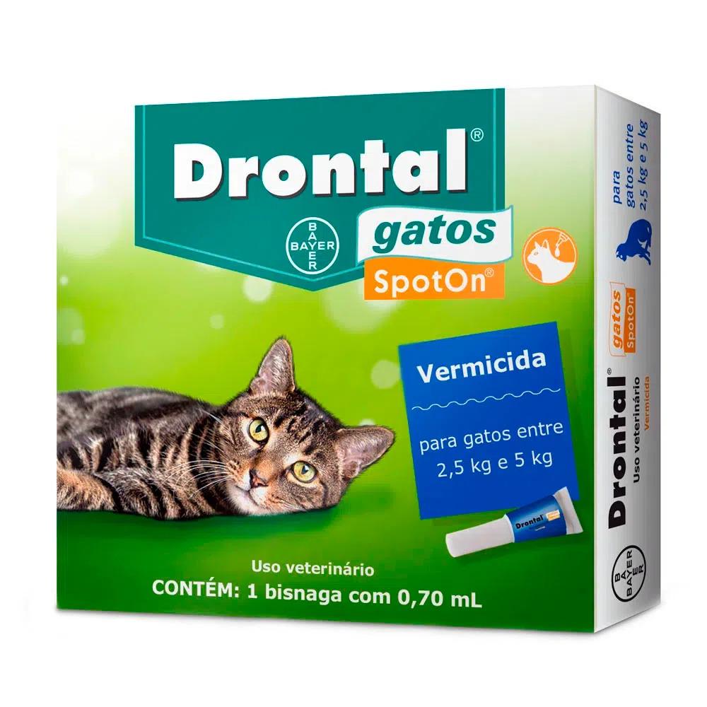 Drontal SpotOn para Gatos de 2,5 Kg a 5 Kg