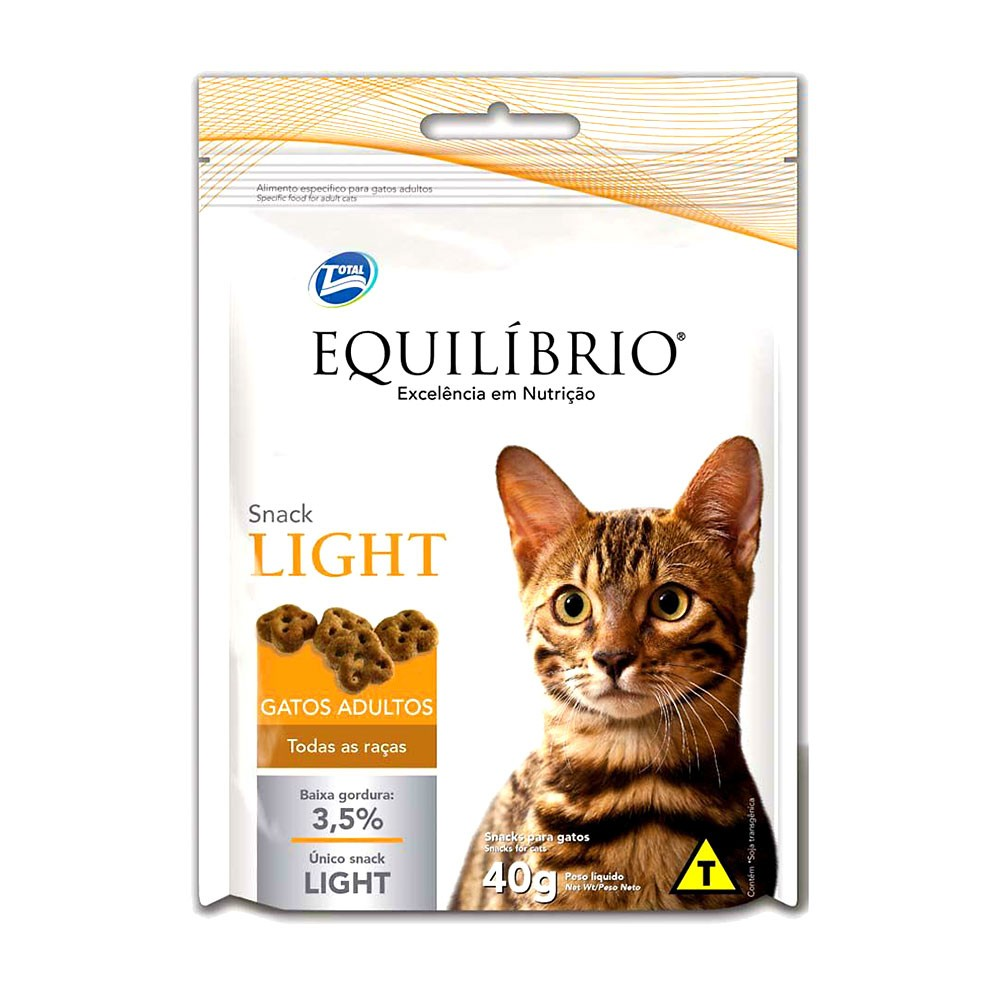 Equilibrio Snack Gatos Adultos Light 40g