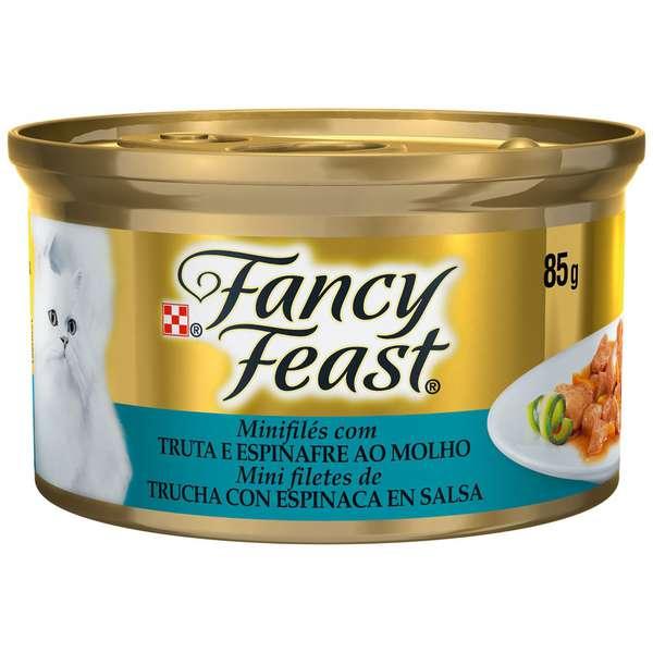 Fancy Feast com Truta e Espinafre ao Molho - 85g