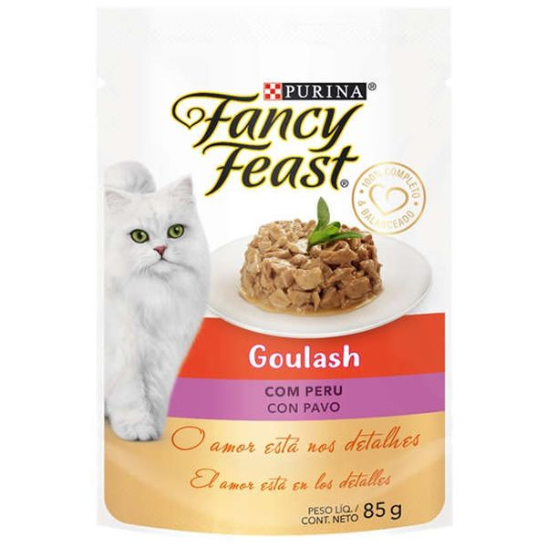 Fancy Feast Sachê Goulash com Peru para Gatos Adultos 85g