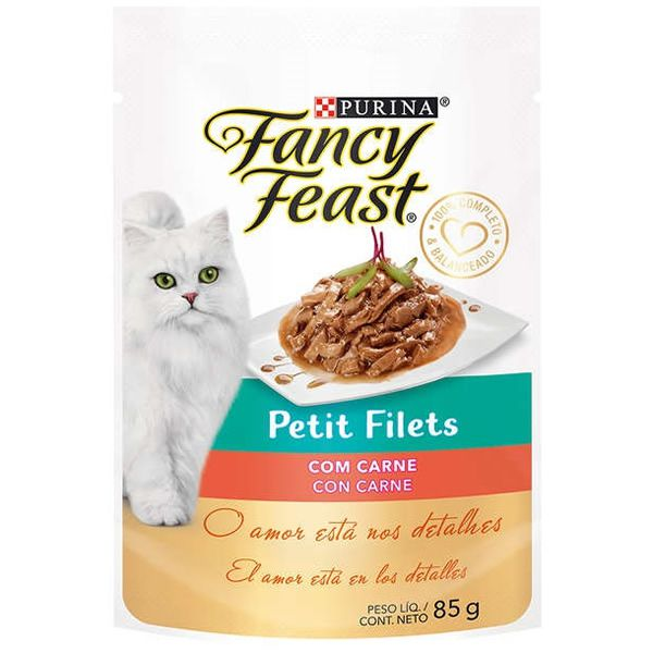 Fancy Feast Sachê Petit Filets com Carne para Gatos Adultos 85g
