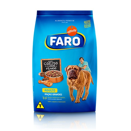 Faro Raças Grandes Adulto Carne e Frango