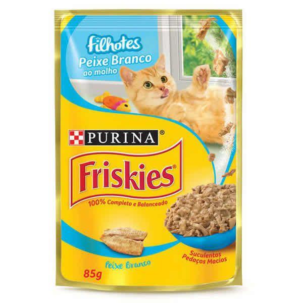 Friskies Sachê Peixe Branco para Gatos Filhotes
