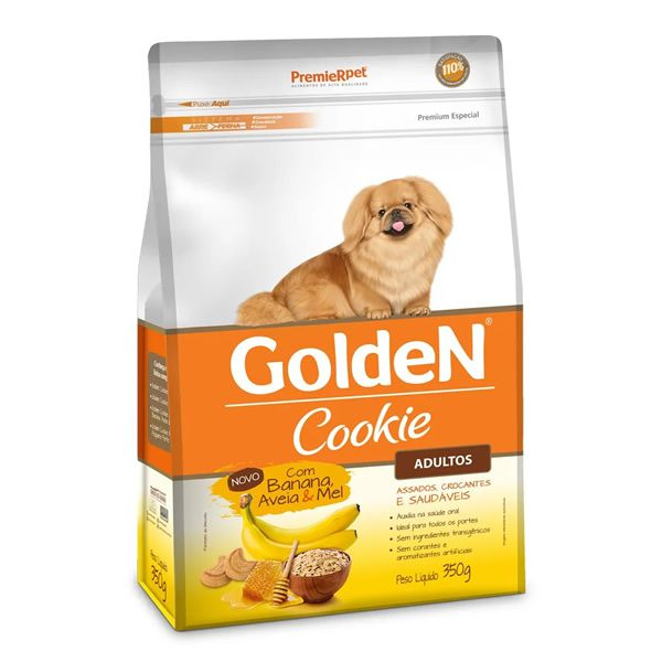 Golden Cookie Adulto Banana Aveia e Mel  - 350g