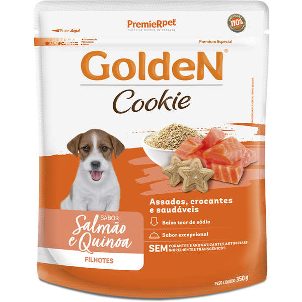 Golden Cookie Filhotes Salmão e Quinoa - 350g