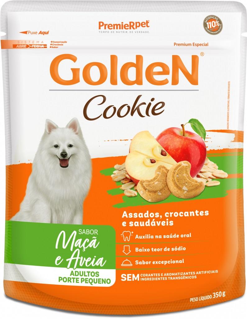 Golden Cookie Maça E Aveia Cães Adultos Porte Pequeno 350gr