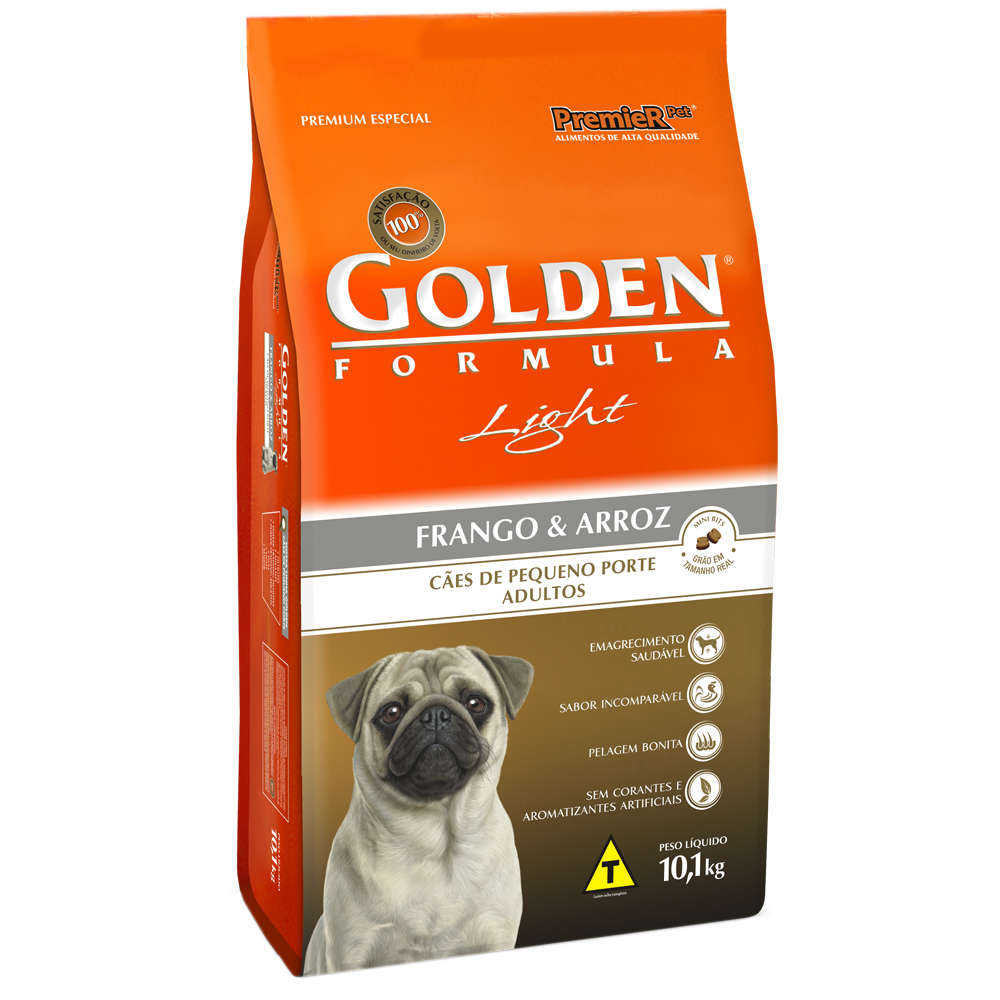 Golden Fórmula Light Pequeno Porte Adulto Frango e Arroz
