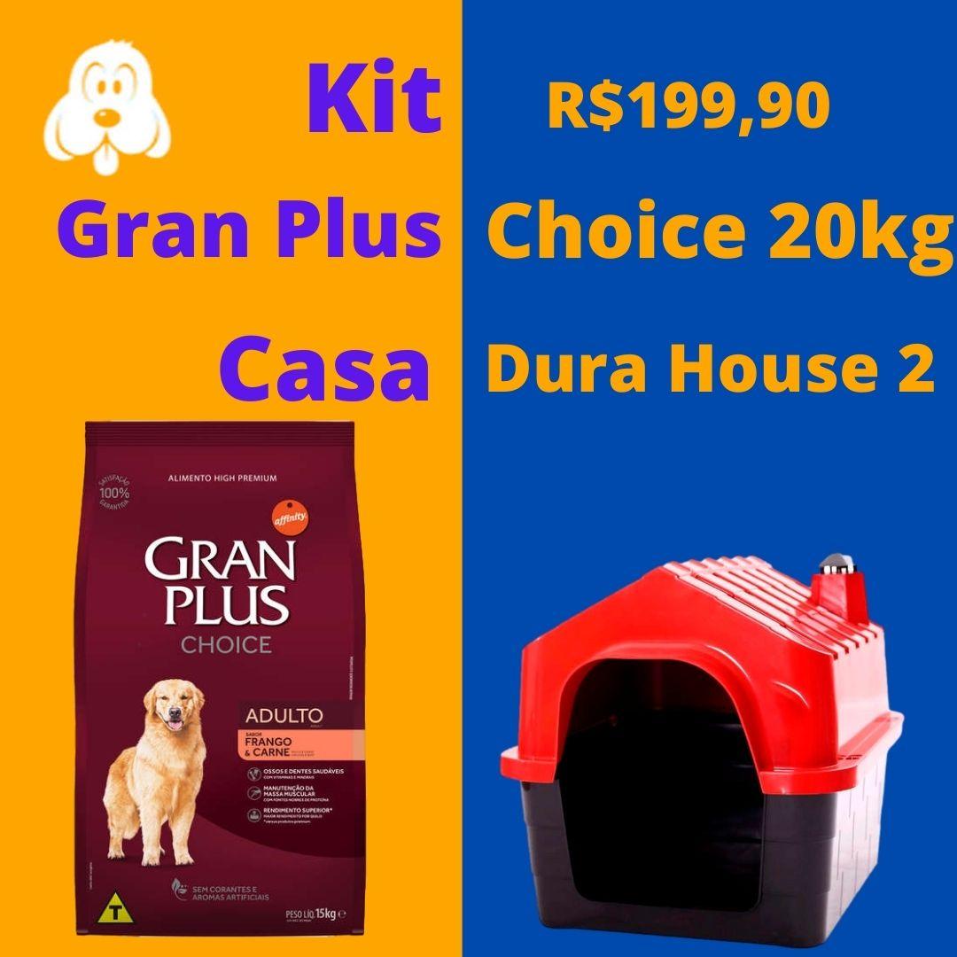 Gran Plus Choice Cães Adultos 20kg  + Casa DuraHouse n 2