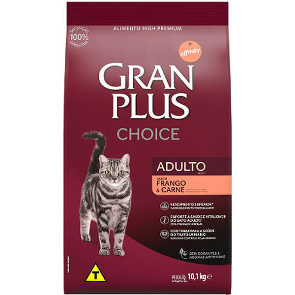 Gran Plus Choice Gatos Adultos Frango e Carne 10kg